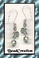 silver chain dangle earrings