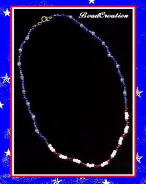 American spirit red white and blue beaded jewelry