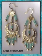 green chandelier earrings gold big earrings