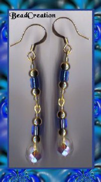 dangle earrings long beaded earrings blue dangle beaded earring