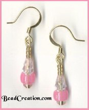 pink glow in the dark earrings,costum jewelry