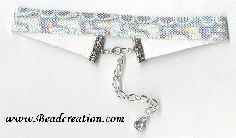 ribbon choker, shiny