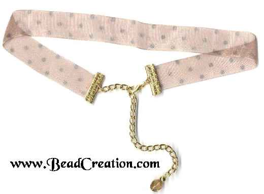 brown ribbon choker