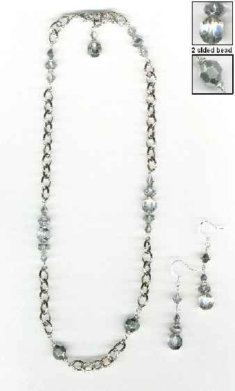 silver beaded chain necklace