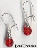 short red earrings