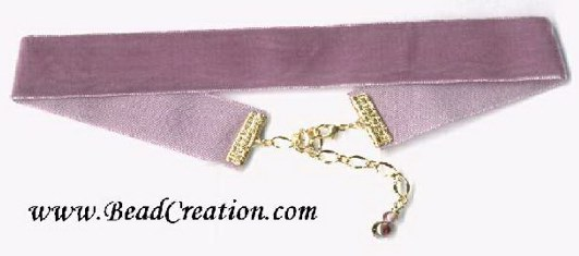 pink velvet choker necklace