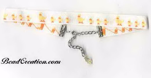 duck jewelry animal necklace duck ribbon choker