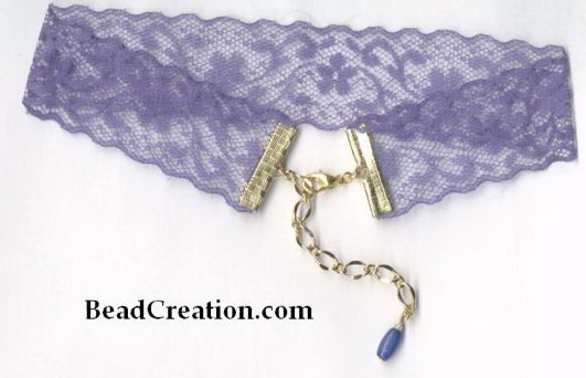 lace choker,purple