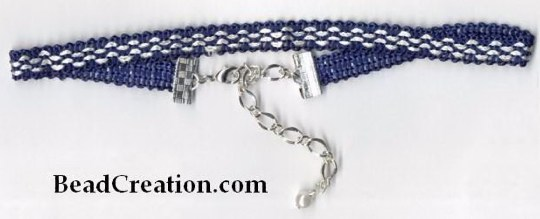navy blue choker necklace