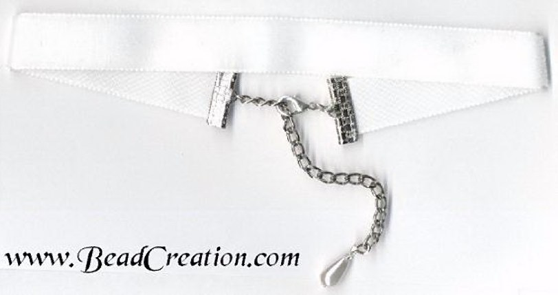 white velvet choker necklace