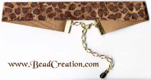 animal prink ribbon choker