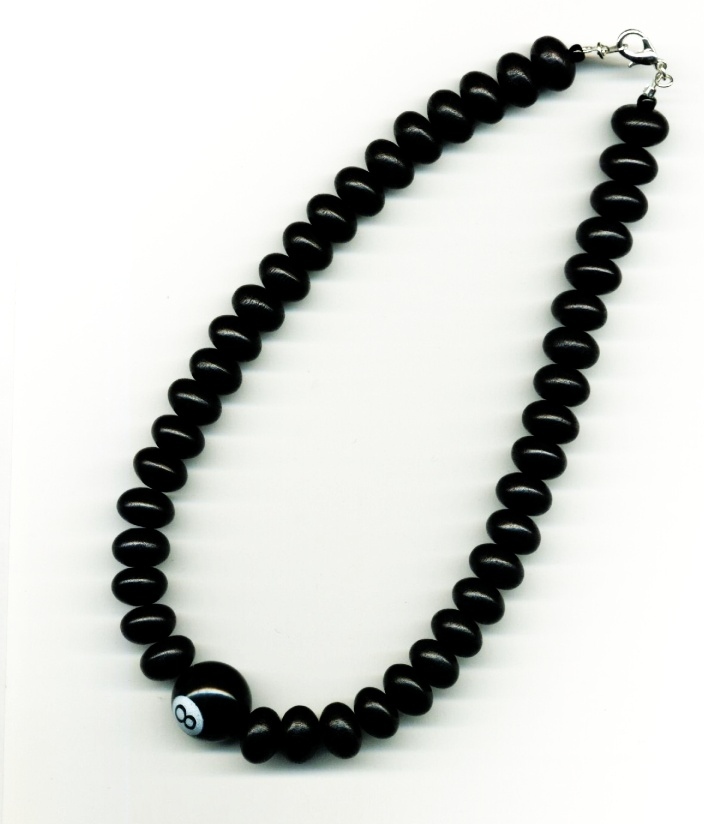 eight ball necklace