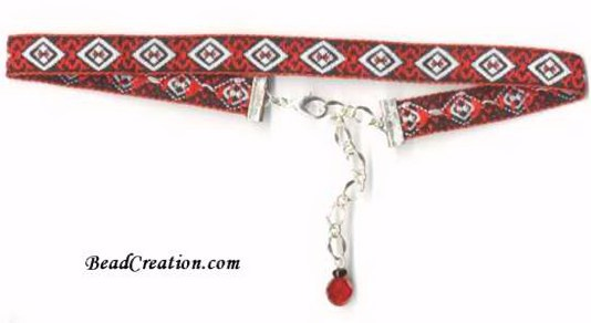 red ribbon choker