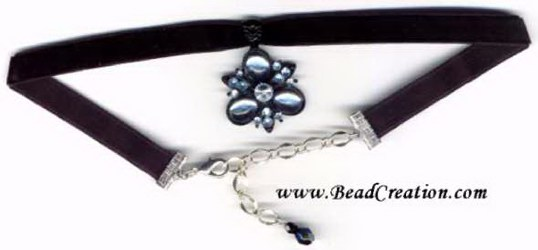 black velvet choker necklace with pendant