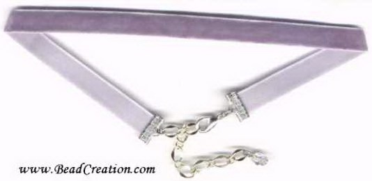 purple,gray,velvet necklace