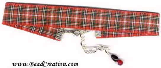 red plaid choker necklace,school girl