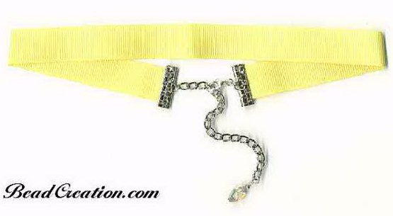 yellow ribbon choker necklace ribbon