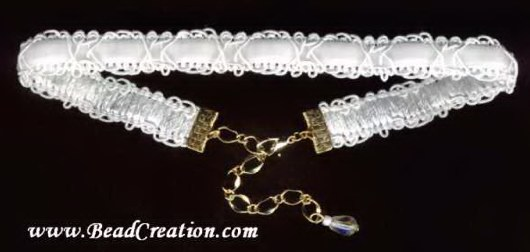 white velvet necklace,scroll