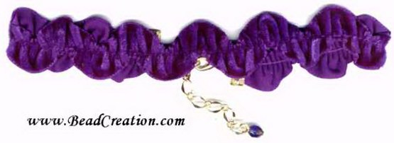 purple velvet choker necklace