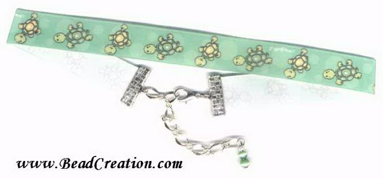 turtle necklace, ribbon choker