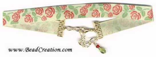 red roses ribbon choker necklace