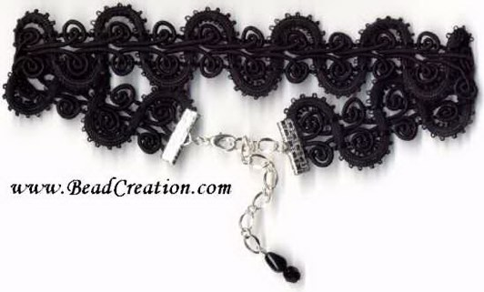 black choker necklace, fancy