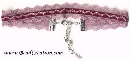 velvet and lace choker