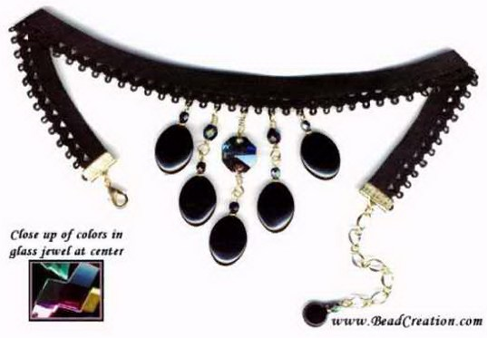 black choker necklace,beaded