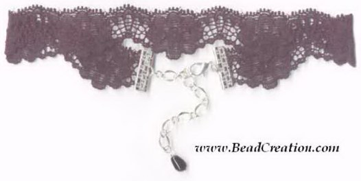 stretchy black lace choker