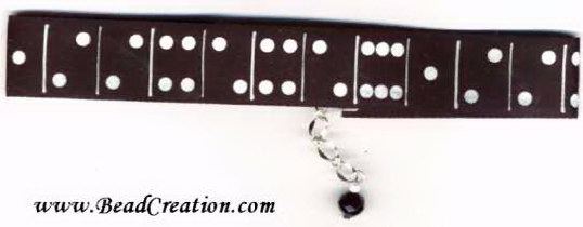 domino jewelry,novelty necklace,black and white jewelry