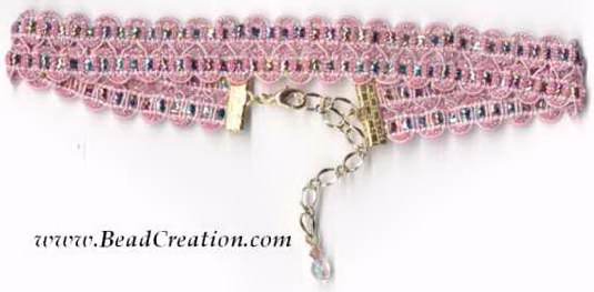 fairy tale pink princess necklace
