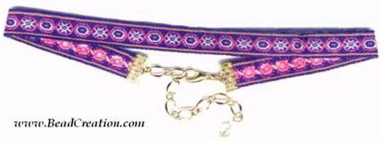 pink purple choker