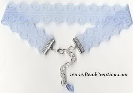 light blue choker necklace
