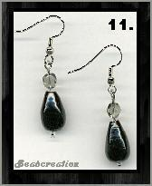 short black earrings