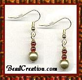 Gold Glass Pearl Earrings