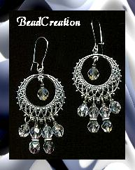 chandelier crystal moon earrings